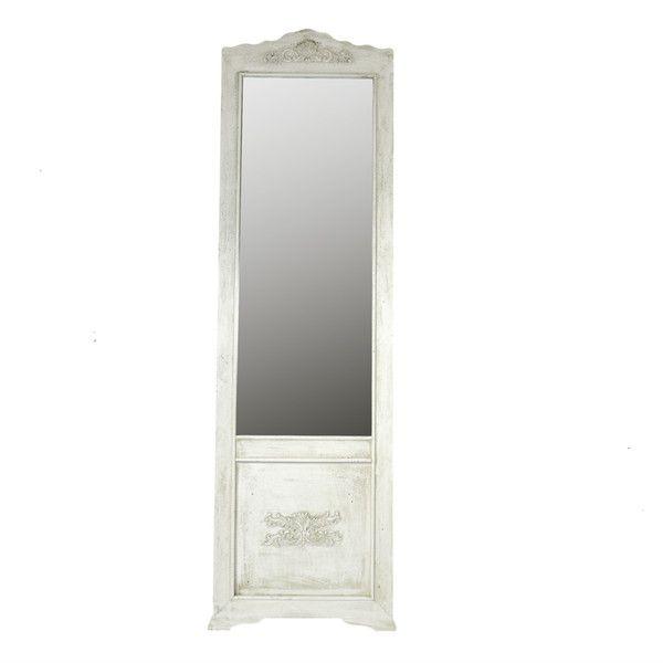 Miroir sur pied for Miroir blanc sur pied